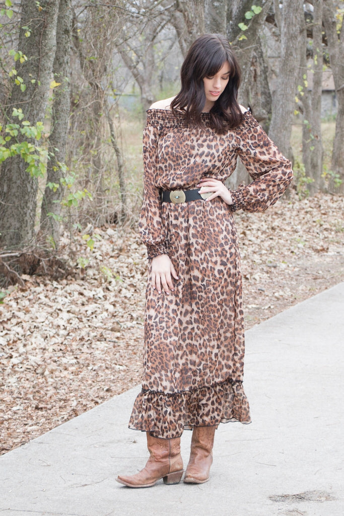 62225 Cheetah Chiffon Maxi Dress (3@$10)