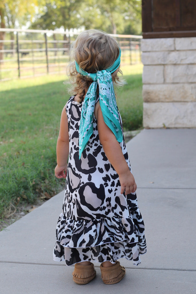 533  Black Cheetah Toddler Ruffle Dress (6@$14.75)