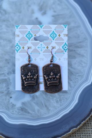 84161 Crown Earring