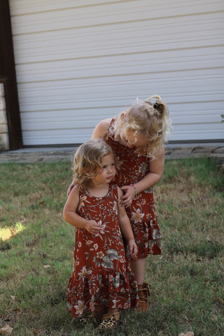 533  Rust Toddler Ruffle Dress (6@$14.75)