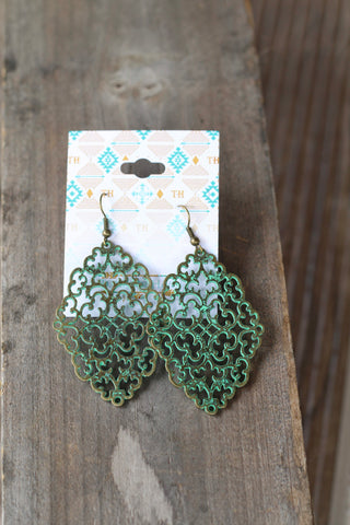 11859 PATINA INTRICATE EARRINGS