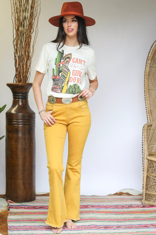 PICK OF THE WEEK NOW $19 -8011 Mustard Flair Denim (WAS 6@$22.50)