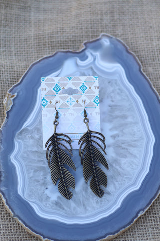 101851 Vein Feather Earring