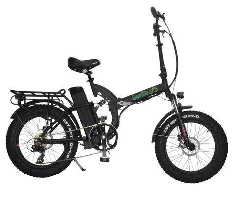 Green Bike USA GB500 Fat Tire Folding Electric Bike