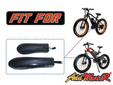 Addmotor Fat Tire Bike Fenders Mudguard Bicycle Fenders Set Cycling Fit Motan M-850 / M-550 Electric Bicycle (Black)
