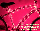 Best Pink Bicycle Wheel Lights - Stylish Accessories For Safe Bike Riding - Girls & Women Love These Cool LED Spoke Decorations - Fast Easy Install - Batteries Included - 100%