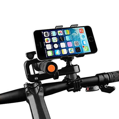 Bike Phone Mount, Airsspu Universal Cell Phone Bicycle Rack Handlebar Flashlight Holder