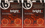 Brightz, Ltd. Red Wheel Brightz(TM) LED Bicycle Accessory Light (2-Pack Bundle For 2 Tires)