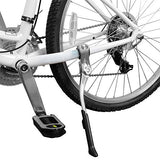 "BV Bicycle Alloy Adjustable Height Rear Side Kickstand, For Bike 24"" - 28"" (Silver)"