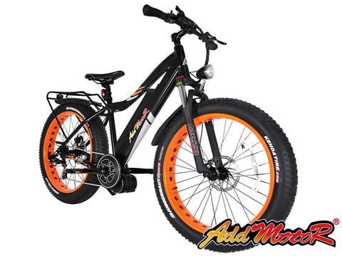 Addmotor MOTAN 1000W M-5800 48V 17.5AH 26 inch Fat Tire E-bike Orange M5800