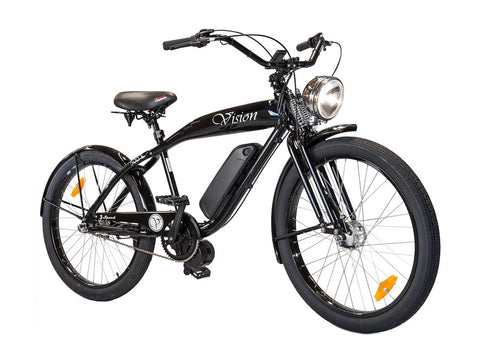 Electric Bike - Phantom Bikes Vision Electric Bike- 500W 48V Retro Cruiser