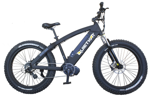 Electric Bike - QuietKat 1000W 48V FatKat Fat Tire Hunting Electric Bike