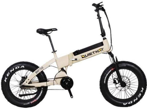 Electric Bike - QuietKat FatKat F750-IB Folding Fat Tire Electric Bike