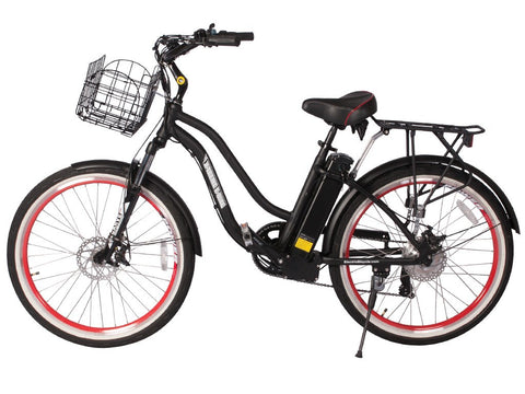 Electric Bike - X-Treme 2016 Hanalei Electric Beach Cruiser Bicycle