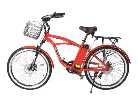 Electric Bike - X-Treme 2016 Kona Lithium Powered Electric Beach Cruiser Bicycle