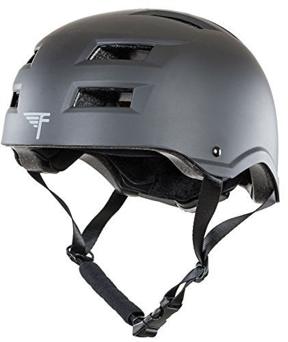 Flybar Protective Multi-Sport Adjustable Helmet With 12 Wide Vents (Black, Medium / Large)