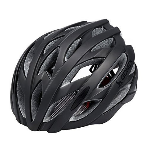 Gonex Wind Cross Road/Mountain Bike Helmet, Bicycle Adult Helmet(All Black)