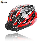 JBM Adult Cycling Bike Helmet Specialized For Mens Womens Safety Protection Red / Blue / Yellow (Red & Black, Adult)