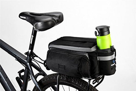 TopSun Roswheel Rear Seat Trunk Bag Handbag Bag Pannier For Bicycle Black