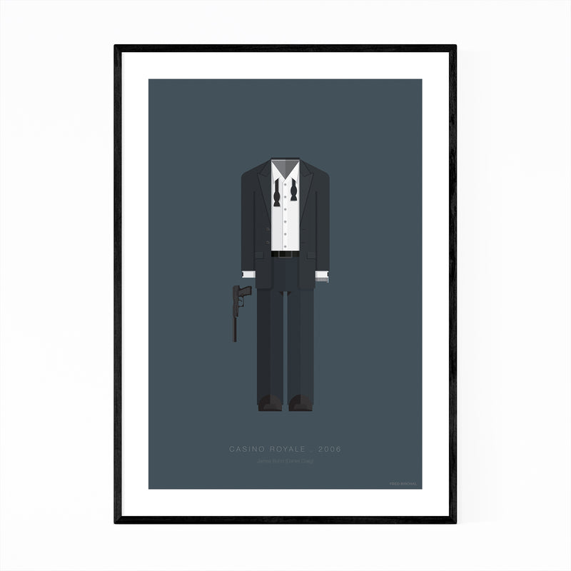 Casino Royale Movie TV Illustration Framed Art Print