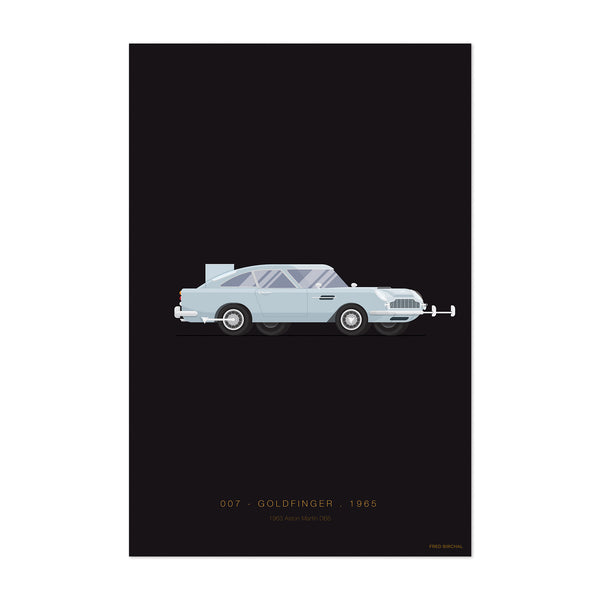 Aston Martin Goldfinger Illustration Art Print