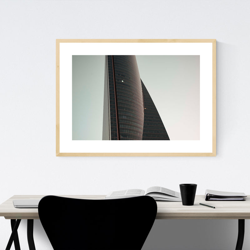 Madrid Cityscape Urban Spain Framed Art Print