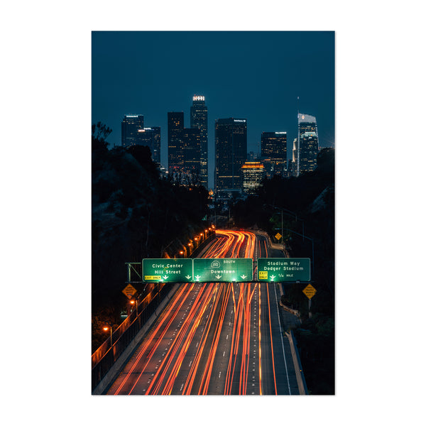 Los Angeles Skyline Cityscape Art Print