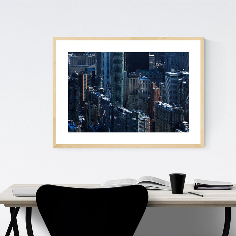 Empire State New York City Skyline Framed Art Print