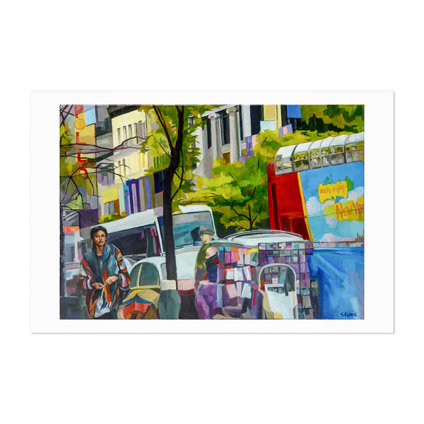 Harlem New York Urban Painting Art Print