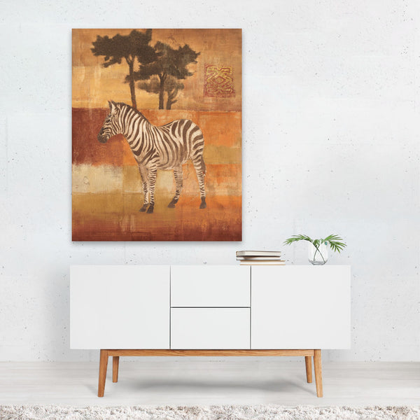 Oranges Fruit Zebra Illustration Art Print