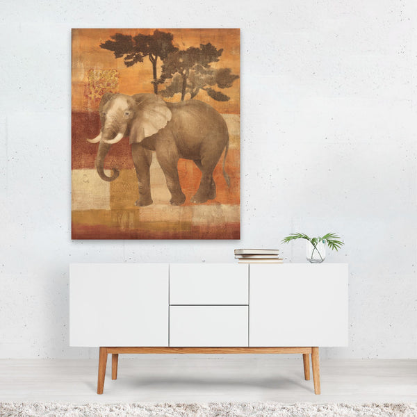 Elephant Oranges Fruit Illustration Art Print