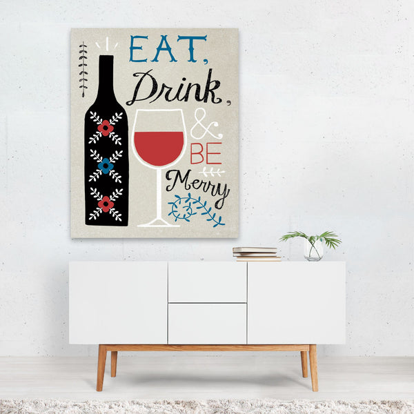 Floral Alcohol Patterns Wine Art Print
