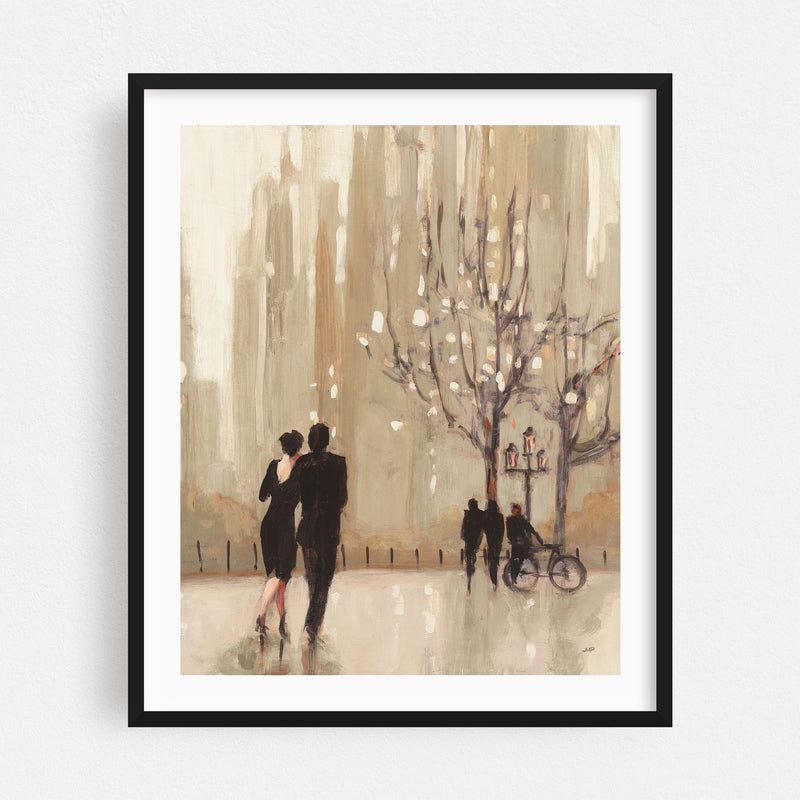 Urban Bicycle Cycling Illustration Framed Art Print