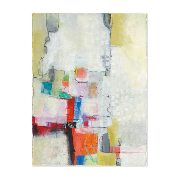 Abstract Urban Geometric Collage Art Print
