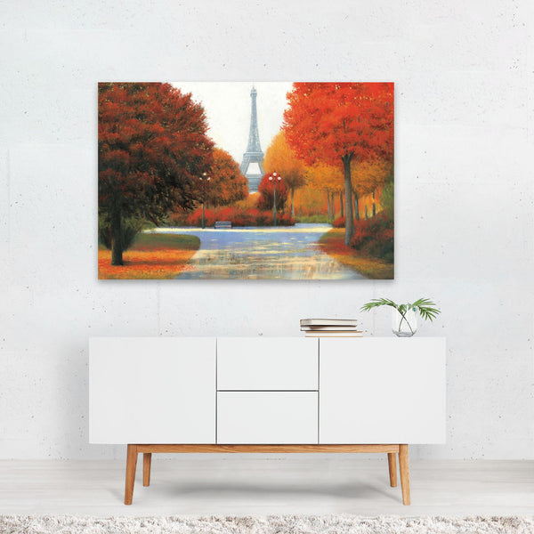 Paris France Autumn Eiffel Tower Art Print