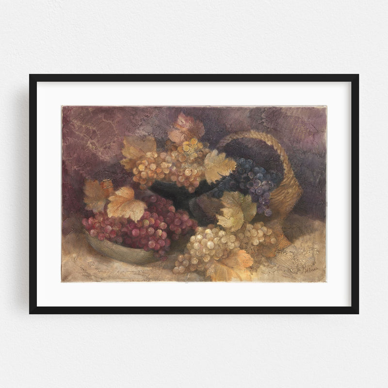 Kitchen Fruit Nature Illustration Framed Art Print