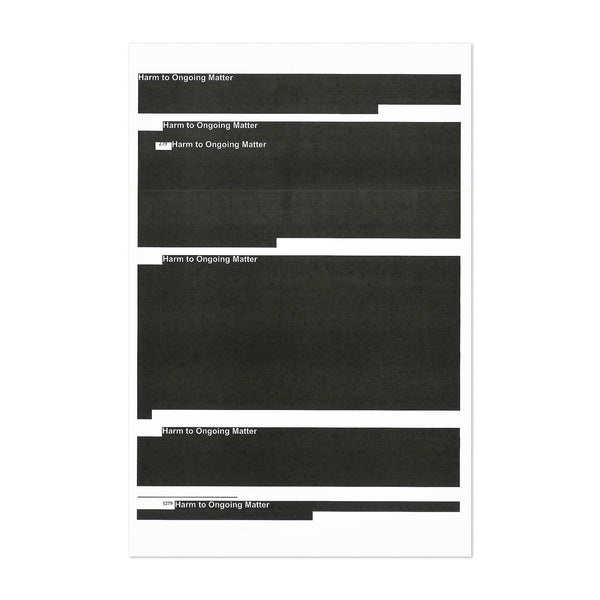 Redacted Robert Mueller Report Art Print