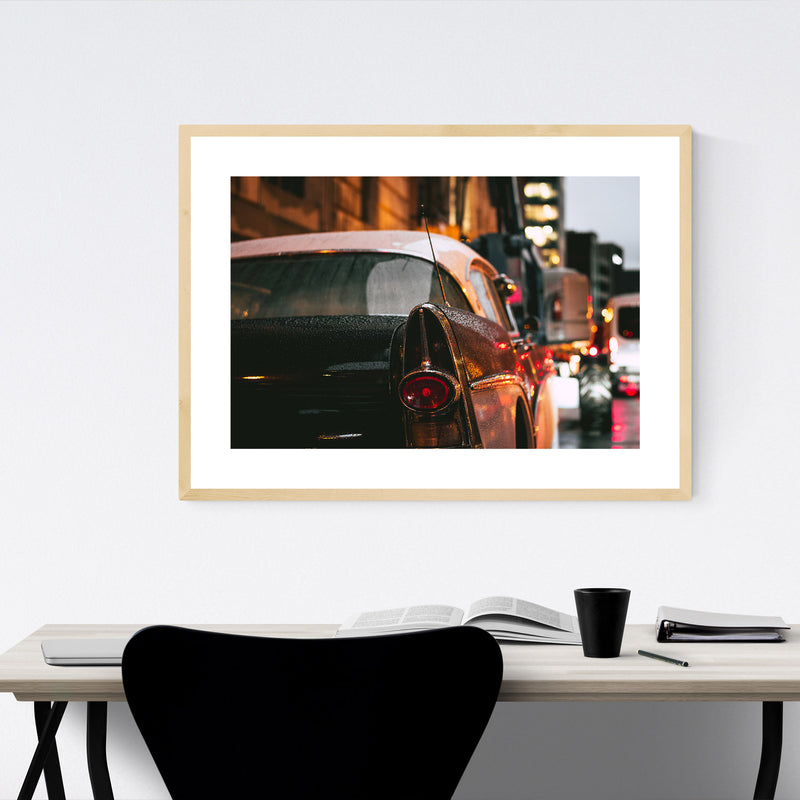 1957 Buick Roadmaster Old Car  Framed Art Print