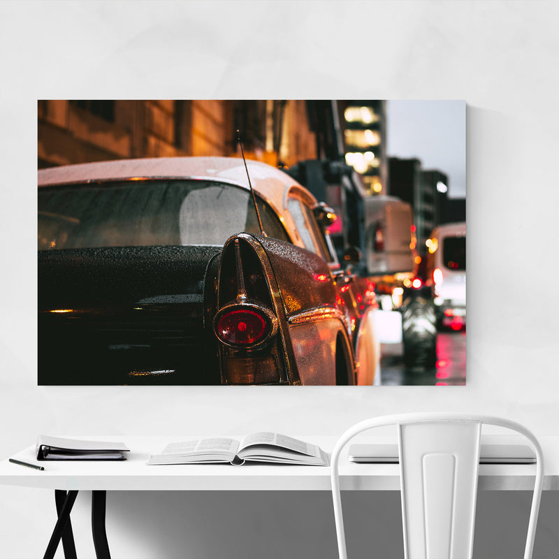1957 Buick Roadmaster Old Car  Canvas Art Print