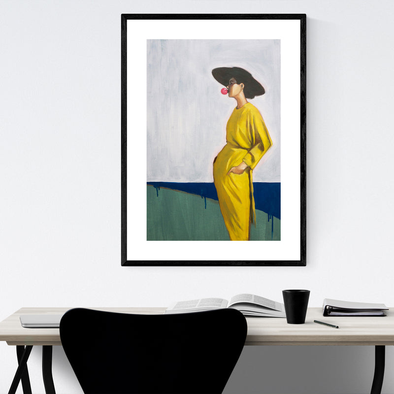 90's Fashion Feminine Figurative Framed Art Print
