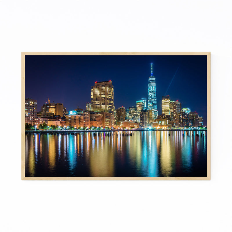 Lower Manhattan Skyline New York Framed Art Print