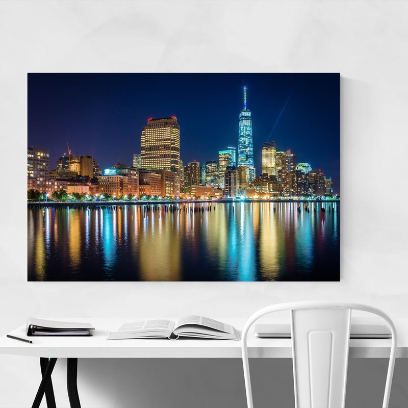 Lower Manhattan Skyline New York Metal Art Print