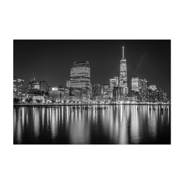 Black White New York Skyline NYC Art Print