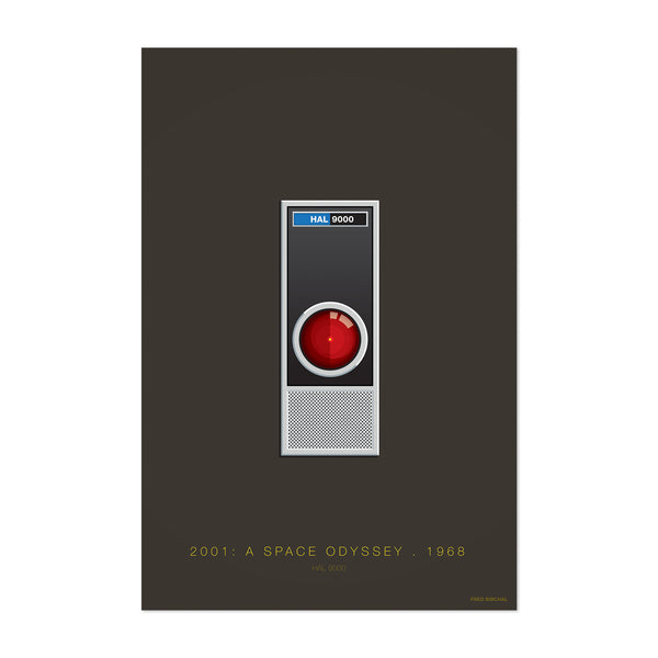 HAL 9000 Space Odyssey Illustration Art Print