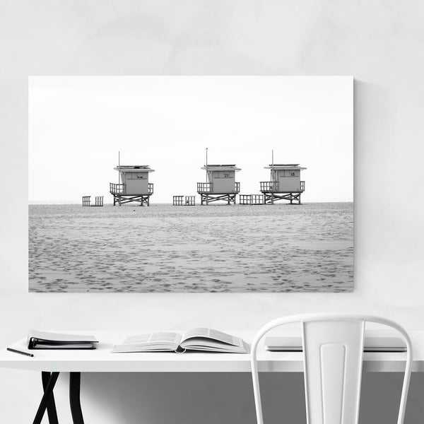 Black & White Venice Beach CA Art Print