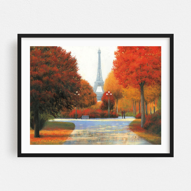 Paris France Autumn Eiffel Tower Framed Art Print