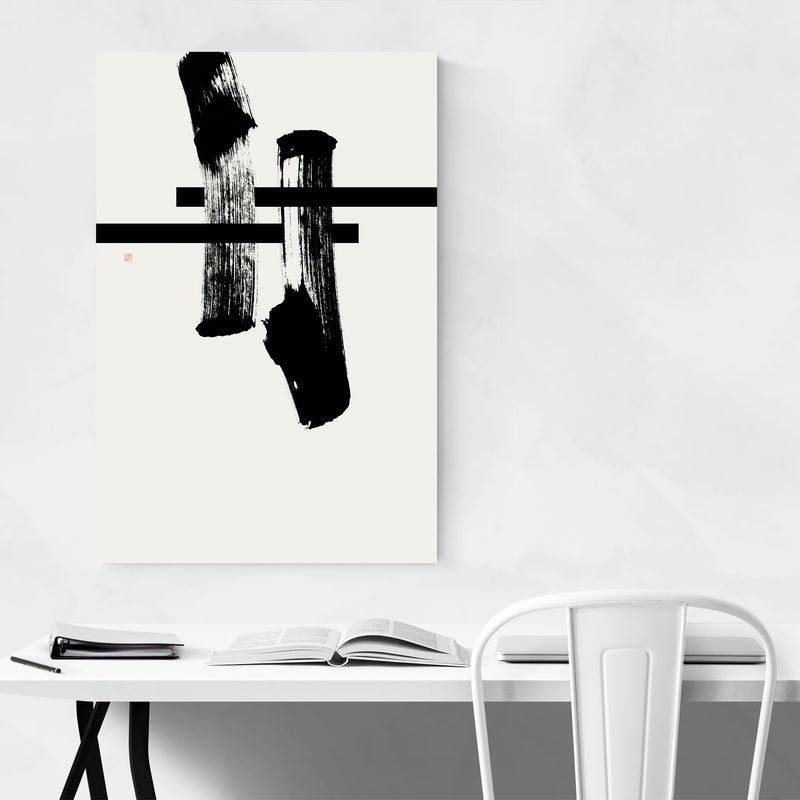 Abstract Japanese Torii Hashtag Art Print