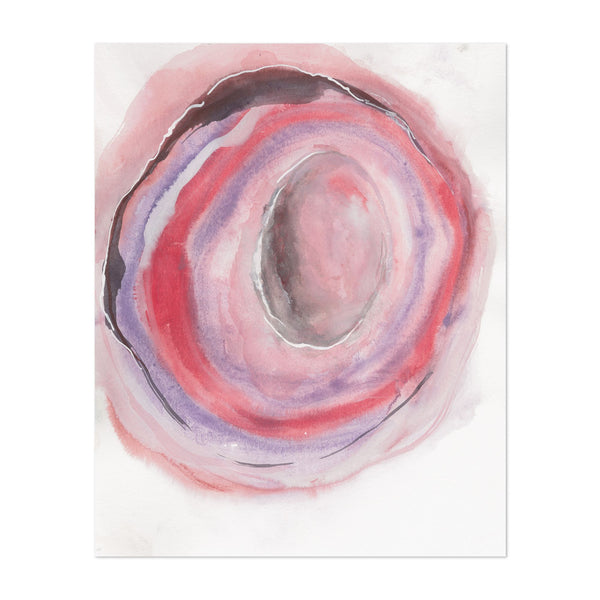 Watercolor Abstract Circles Painting Art Print