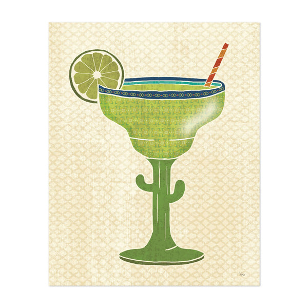 Mexico Alcohol Pattern Margaritas Art Print
