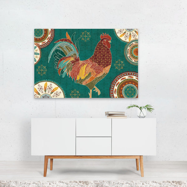 Rural Circles Chicken Typography Art Print